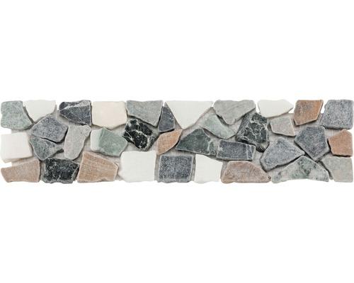 Natursteinbordüre grau 7x29,8 cm