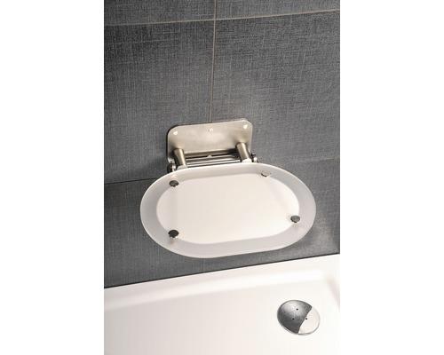 Duschsitz chrom Clear/edelstahl