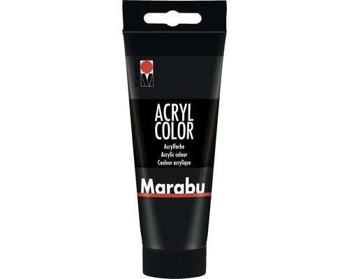 Marabu Künstler- Acrylfarbe Acryl Color 073 schwarz 100 ml