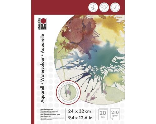 Marabu Malblock für Aquarellmalerei 24x32 cm