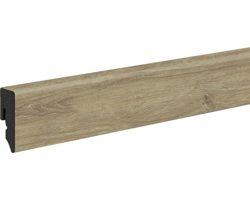 Sockelleiste Skandor PVC KU048L Eiche gekalkt 15x38,5x2400 mm