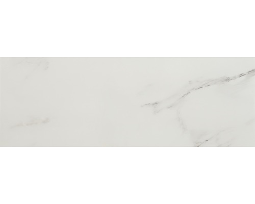 Steingut Wandfliese Venezia 25 x 70 cm Weiß