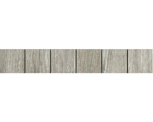 Bordüre Keramik Holzoptik Eiche grau