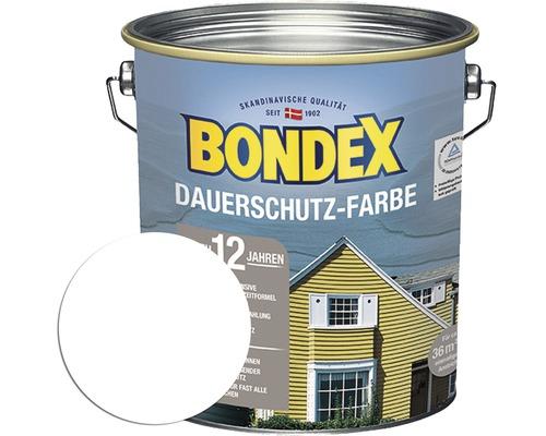 BONDEX Holzfarbe-Dauerschutzfarbe schneeweiß 4,0 L