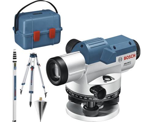 Optisches Nivelliergerät Bosch Professional GOL 20 G inkl. Transportkoffer, Baustativ BT 160 Professional und Messstab GR 500 Professional