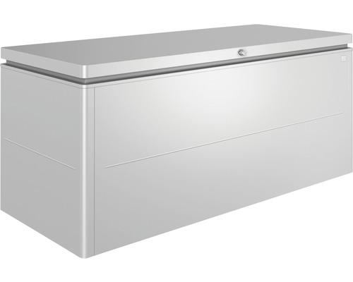 Auflagenbox biohort LoungeBox 200, 200 x 84 x 88,5 cm, silber-metallic