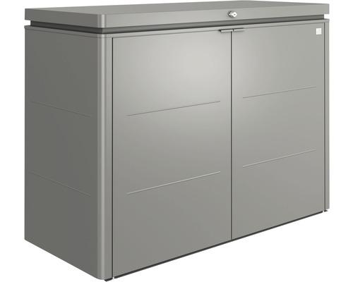 Terrassenschrank biohort HighBoard 160, 160 x 70 x 118 cm, quarzgrau-metallic